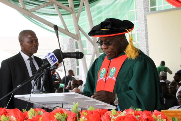 Buhari, others Congratulate Obasanjo at NOUN's Convocation Ceremony - BellaNaija