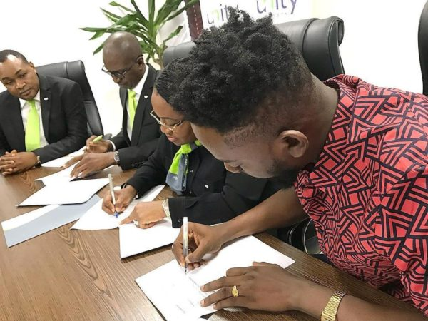 Adekunle Gold signs Endorsement Deal with Unity Bank - BellaNaija