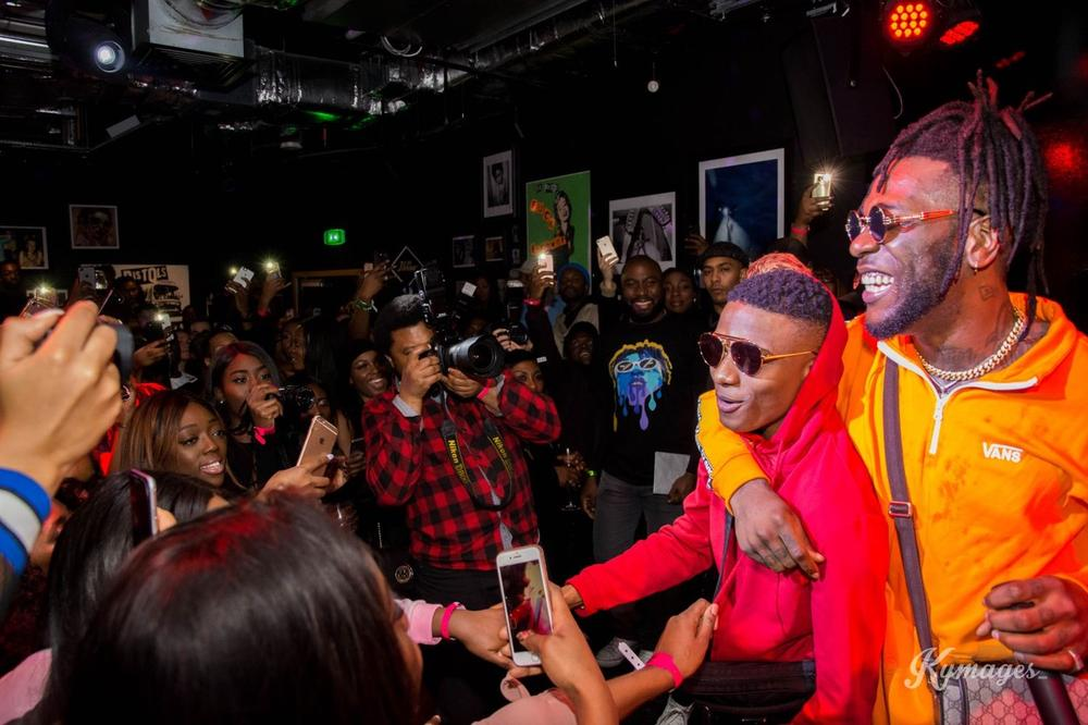 "Wizkid, Tiwa Savage, Mr Eazi join Burna Boy for London Listening of ""Outside"" Album"