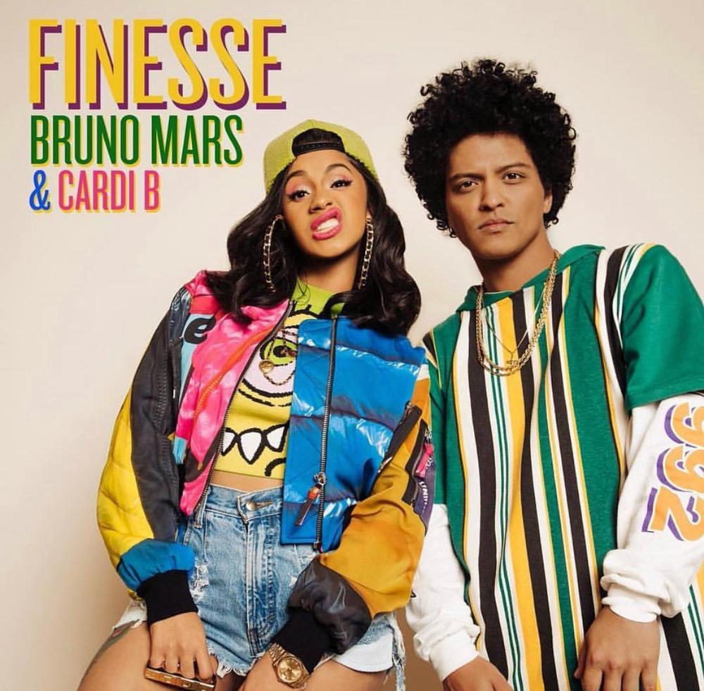 "Party like the 90s! Bruno Mars & Cardi B team up on New Music Video for ""Finesse (Remix) 