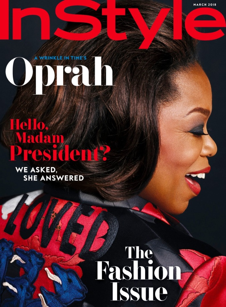 Instyle Magazine Us: Oprah Winfrey Shines On The March 2018 Issue Of InStyle