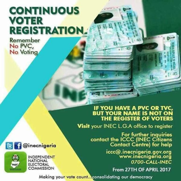 INEC to begin distributing PVCs in May - Have you Registered - BellaNaija