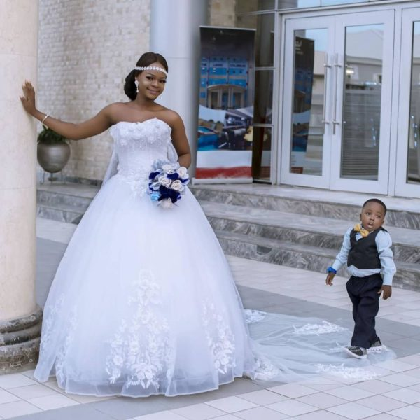 The Photobombers! 3-Year-Old Tobi joins Olajumoke in Wedding-Themed Photoshoot - BellaNaija