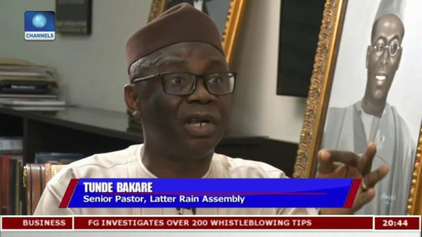 This is not the Government we all hoped for - Tunde Bakare - BellaNaija