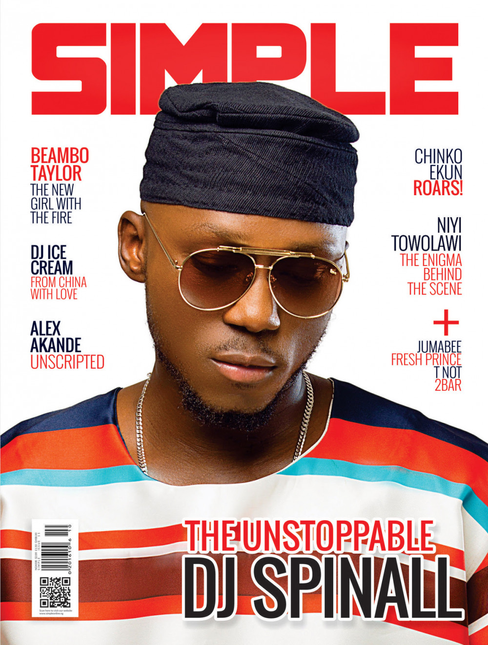 The Unstoppable! DJ Spinall covers Latest Issue of Simple Magazine