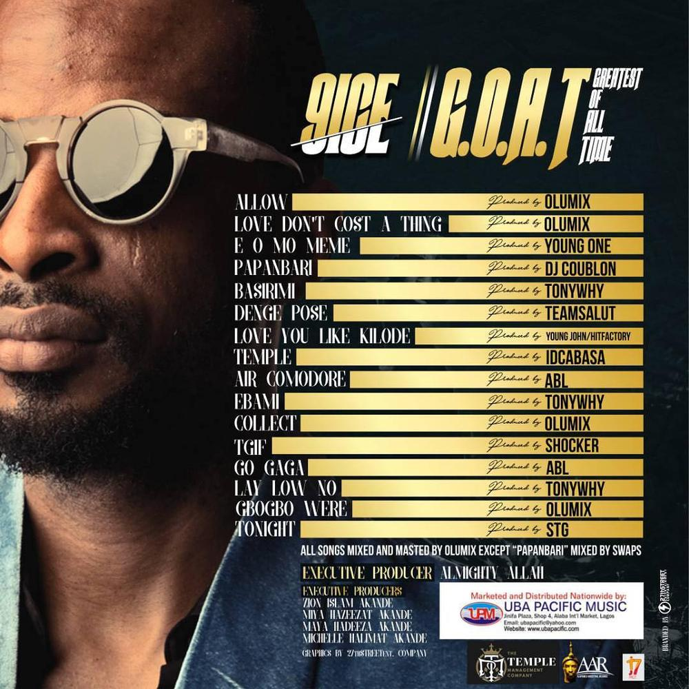 "The ""G.O.A.T""! ? 9ice unveils Tracklist for New Album"
