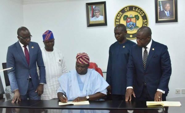 Ambode signs Bill facilitating 24-Hour Power Supply in Lagos State into Law - BellaNaija