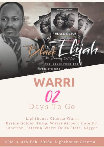 "Apostle Suleman's Biopic ""Black Elijah"" to premiere on Sunday - BellaNaija"