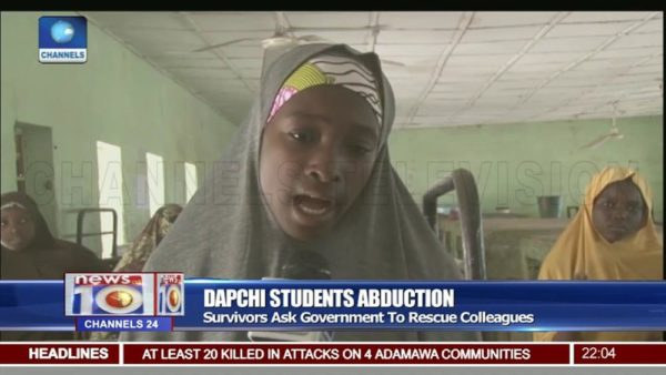 #DapchiGirls: Survivors plead with FG to rescue their Friends | WATCH - BellaNaija