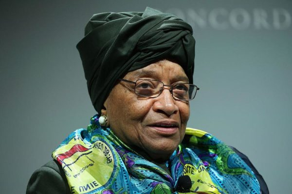 Liberia's Ellen Johnson-Sirleaf accepts Ibrahim Prize for Achievement in African Leadership