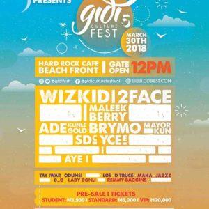 Wizkid, 2Baba, Adekunle Gold to Headline Gidi Fest 2018