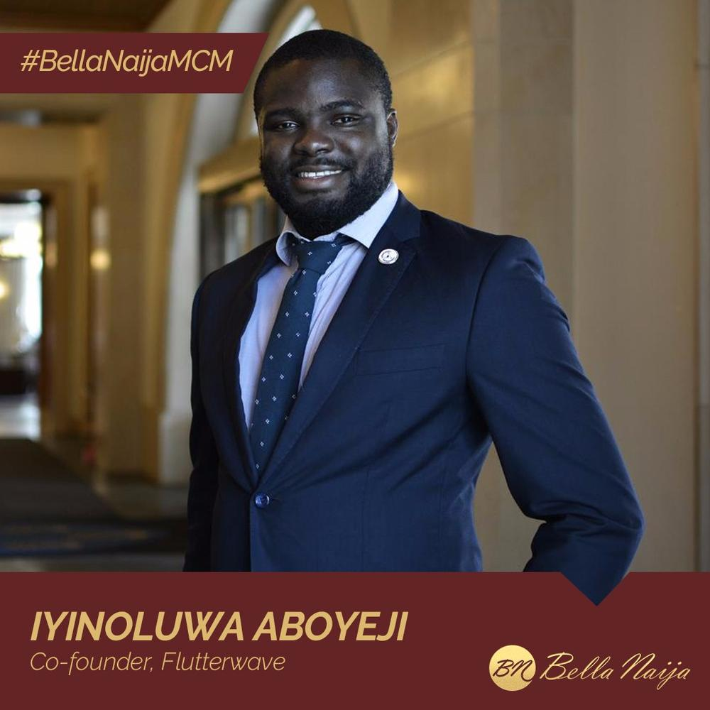 Capacity Building Champion & Problem Solver! Iyinoluwa Aboyeji of Flutterwave is our #BellaNaijaMCM this Week