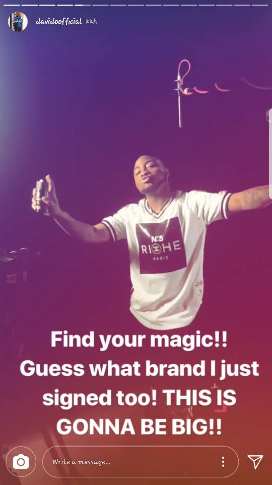 Money Moves! Davido bags new Endorsement Deal