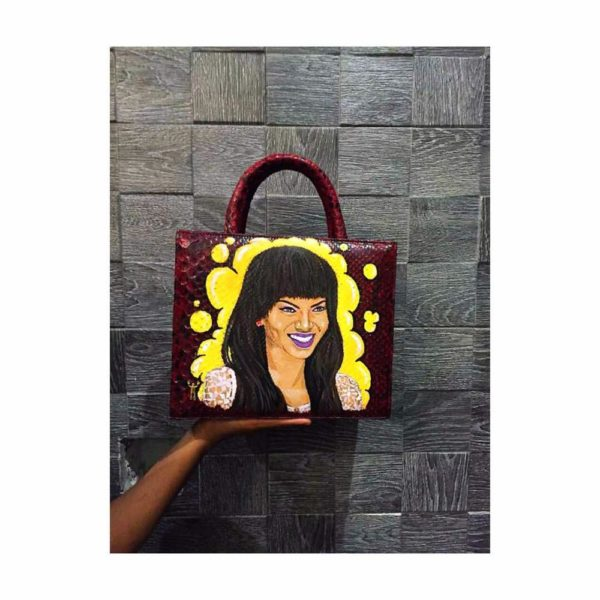 Dricky's art work on an Apàárt Handbag