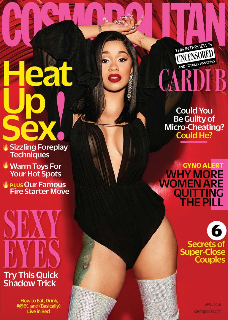 Cardi B is HOT on the Cover of Cosmopolitan Magazine\'s April Issue