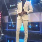 Ebuka Obi-Uchendu is Dapper in Ivory for the #BBNaija Live Show Hosting Duties Tonight