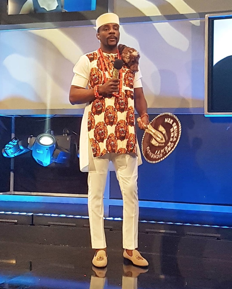 LION! Ebuka Obi-Uchendu's Isi-Agwu Outfit for the #BBNaija Live Show Tonight