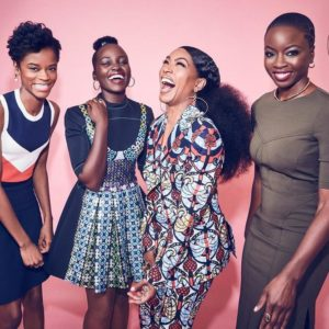 "Lupita Nyong'o & Angela Bassett are Gorgeous in Ankara for Entertainment Weekly | Meet the Ladies of ""Black Panther"""