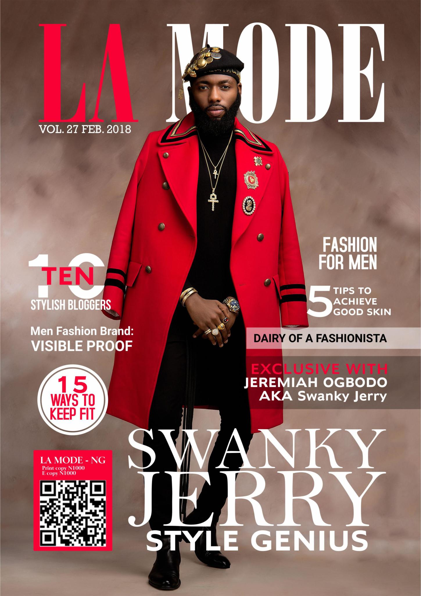 stylist swanky jerry covers la mode magazine 39 s february. Black Bedroom Furniture Sets. Home Design Ideas