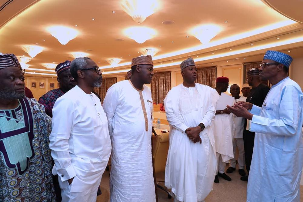 PDP Senators absent as President Buhari hosts Lawmakers - BellaNaija
