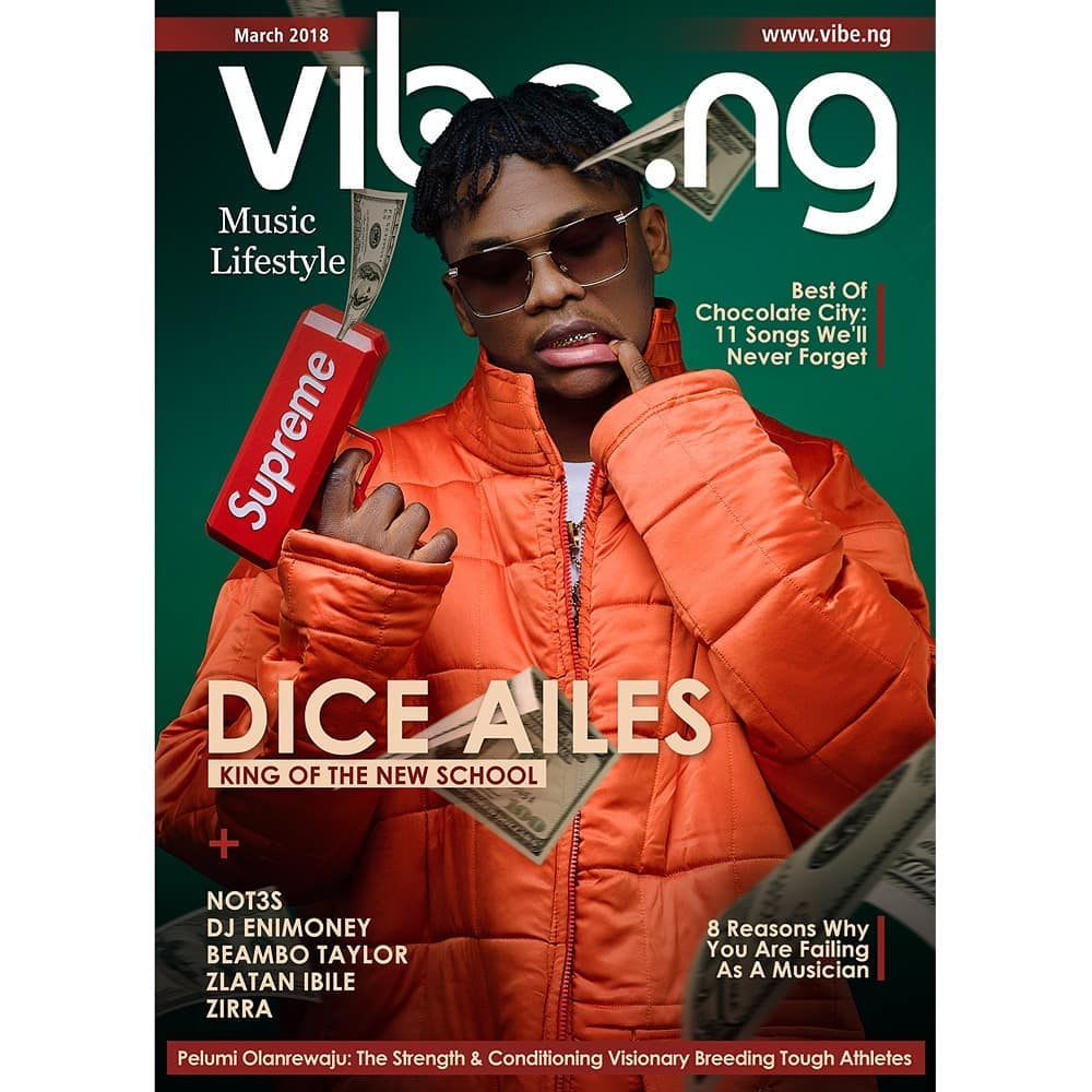 King of The New School! Dice Ailes covers New Issue of Vibe.NG Magazine