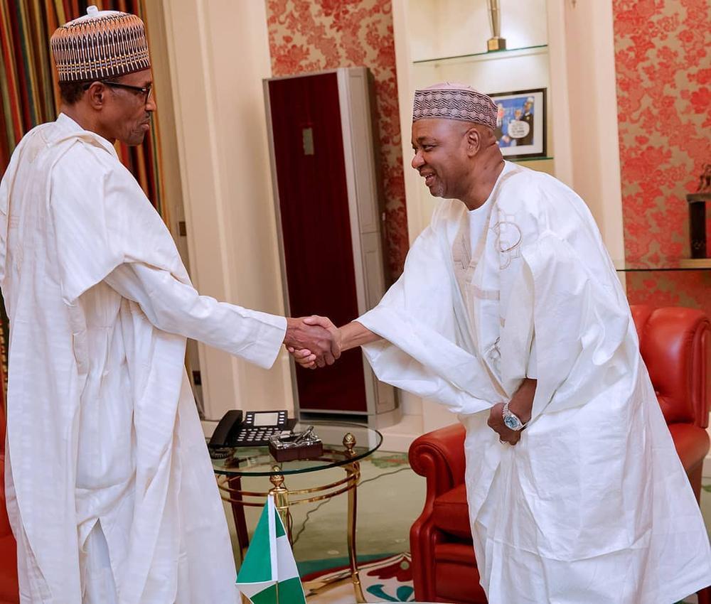Former VP Sambo visits President Buhari - BellaNaija