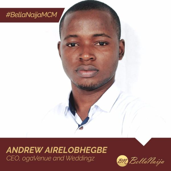 How #BellaNaijaMCM Andrew Airelobhegbe of ogaVenue is Making Event Venue Booking Easy