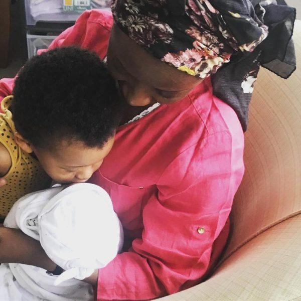Di'Ja births Baby Girl! - BellaNaija