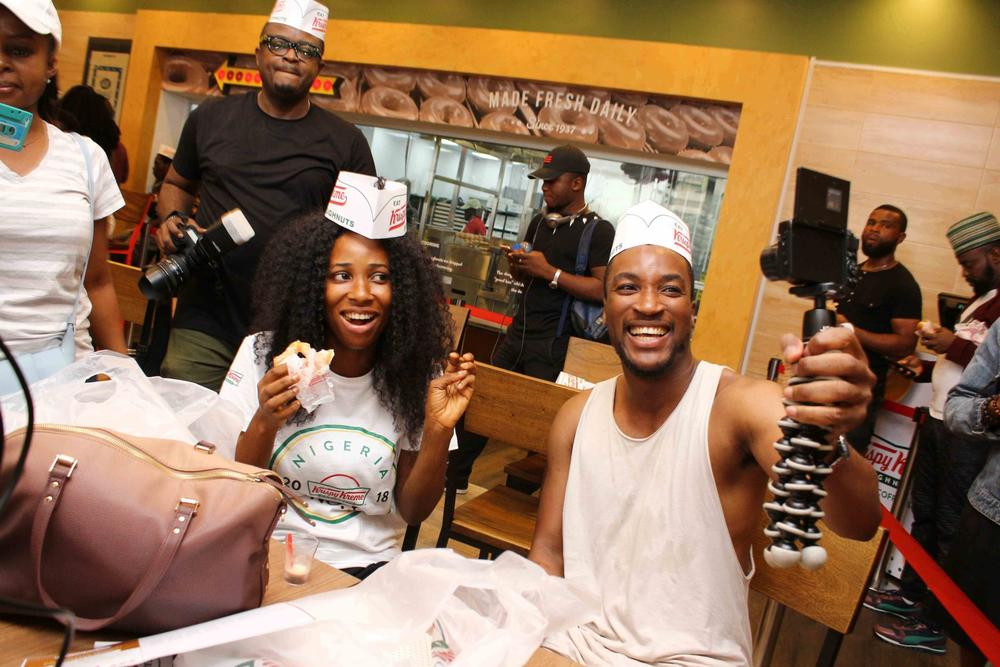 Krispy Kreme launches in Lagos with lots of Freebies! | First Photos