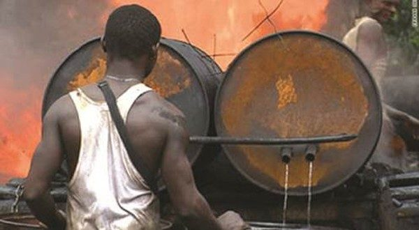 Navy destroys Illegal Refineries with 4m litres Daily Capacity in Rivers