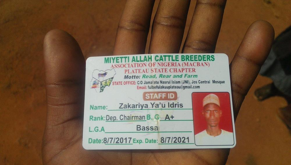 Controversy as Miyetti Allah's Deputy Chairman's ID Card at scene of Fulani Herdsmen Attack - BellaNaija