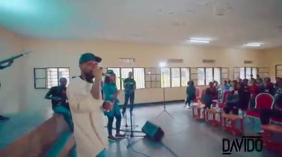 Davido visits Music School in Rwanda, donates $5000 - BellaNaija