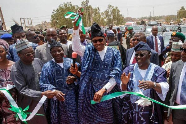 President Buhari recommissions Bridge built by Goodluck Jonathan - Dalung - BellaNaija