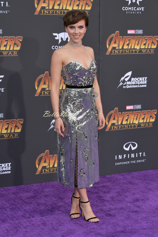 Chadwick Boseman Angela Bassett Zoe Saldana Danai Gurira Scarlett Johansson Attend Premiere Of Avengers Infinity War Bellanaija
