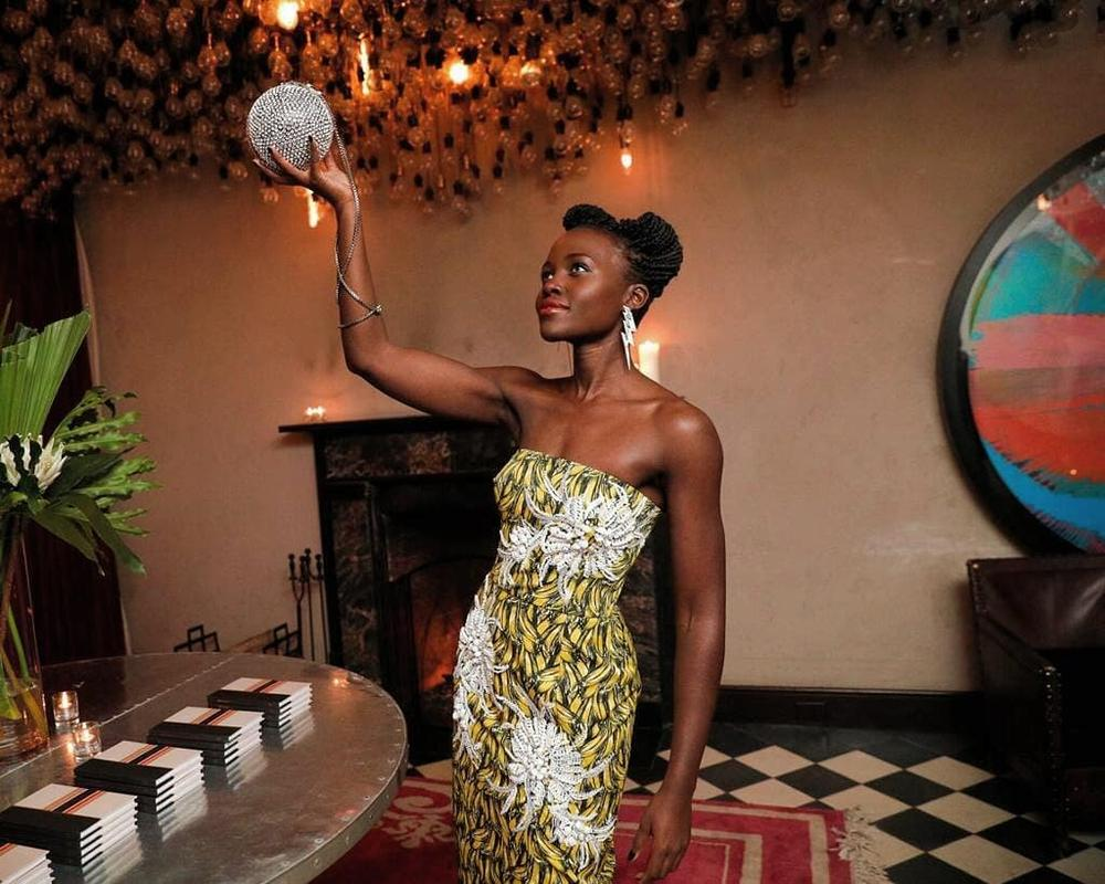 Lupita Nyong'o is Gorgeous in Prada at Stylist Micaela Erlanger's Book Launch