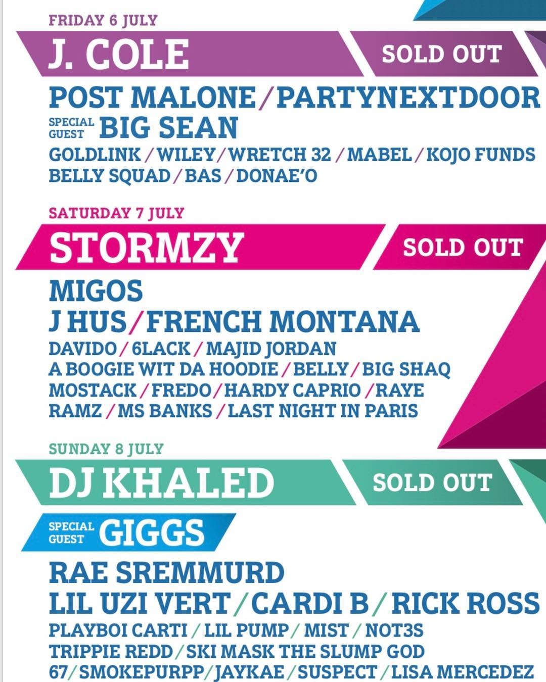 Davido to join Stormzy, Migos, French Montana, J Hus on stage for Day 2 of Wireless Festival 2018