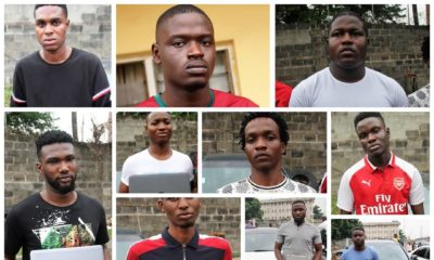EFCC parades 14 Suspected Internet Fraudsters in Lagos