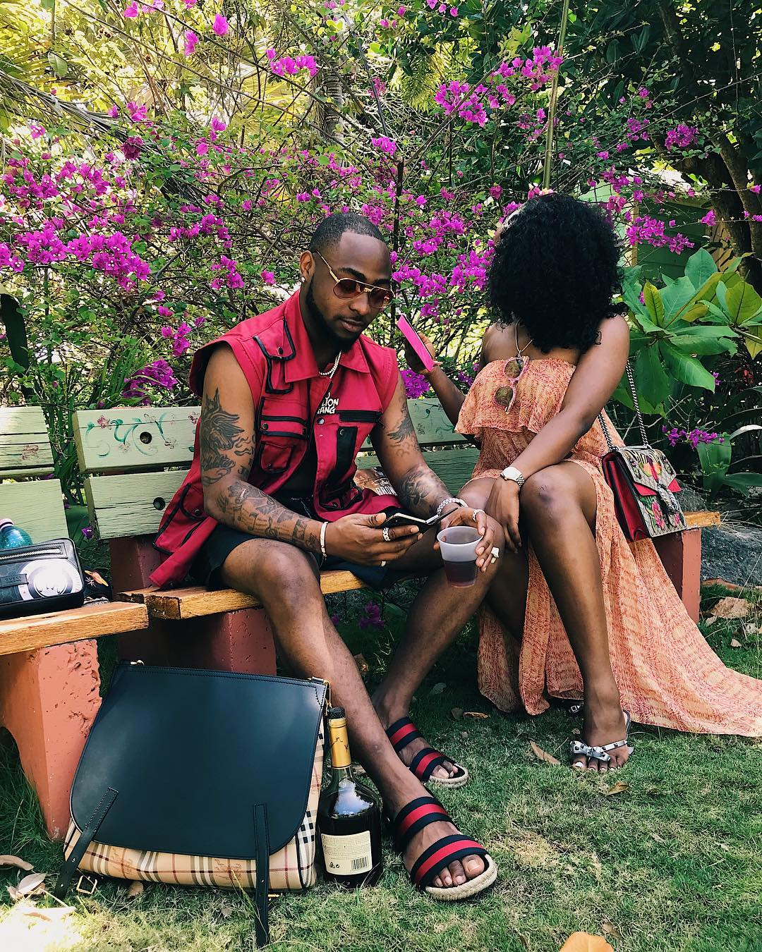 Work Hard, Play Harder! Davido & Girlfriend Chioma head to Barbados