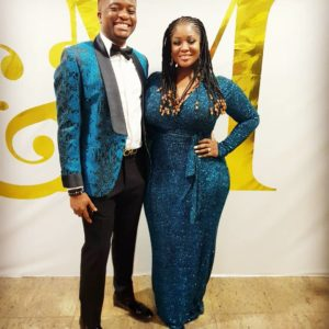 Toolz & Husband Tunde Demuren are Picture Perfect in Matching Outfits for a Wedding