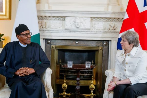 I am more bothered about security & the economy than elections - Buhari to Theresa May - BellaNaija