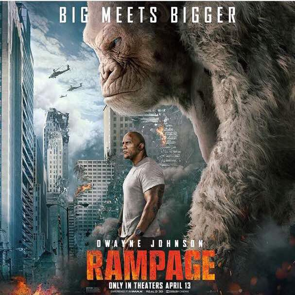 "Dwayne ""The Rock"" Johnson plays adopted Nigerian Davis Okoye in New Action Adventure ""Rampage"" 