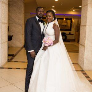 The Gorgeous Melanin Bride Feyi and her Sweetheart Nifemi's Outdoor Wedding  #NifLovesFey