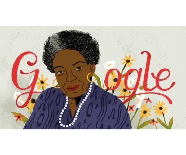 Maya Angelou - Google honors American Poet with lovely cartoon