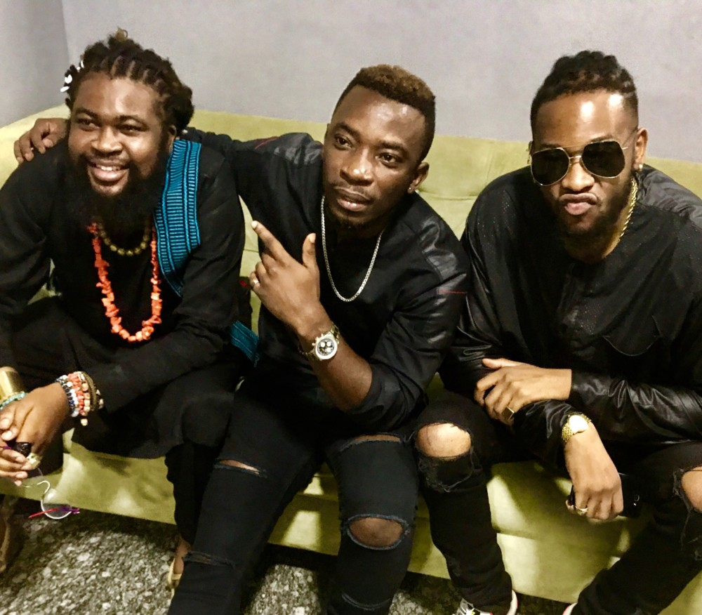 Onyeka Nwelue, Peks Ikeji and Teddy-A