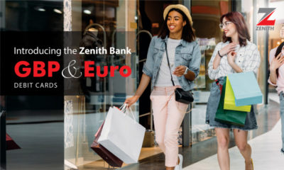 Zenith Bank euro & pound visa card