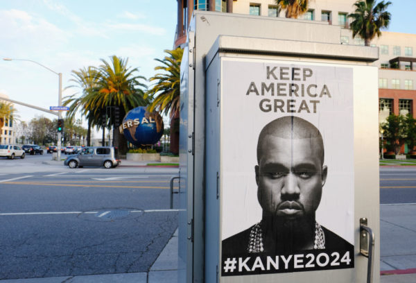 #Kanye2024: Kanye's Keep America Great posters pop up around Chicago & LA | BellaNaija