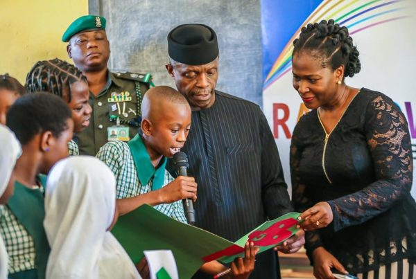 """It's very difficult"" - Osinbajo discusses being Vice President with Primary School Pupils 