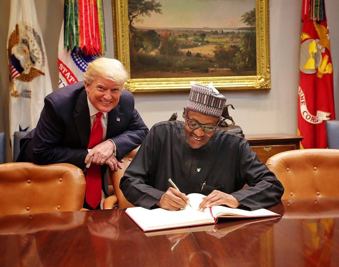 President Buhari Meets Donald Trump in White House