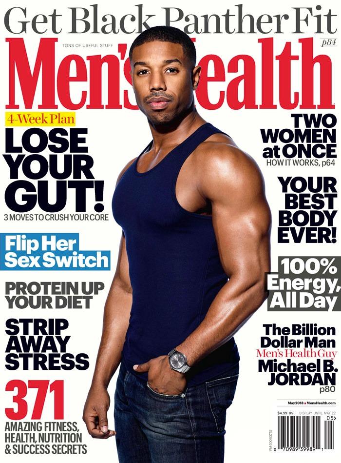 Get #BlackPanther fit: Michael B. Jordan Covers Men's Health Magazine - Image ~ Naijabang
