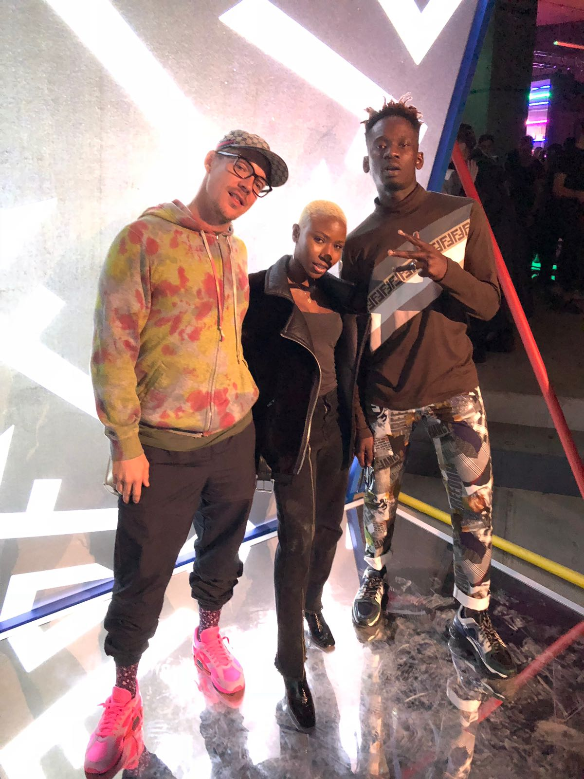 Fendi Gang! Mr Eazi parties with Big Sean, Jhene Aiko & Diplo in London